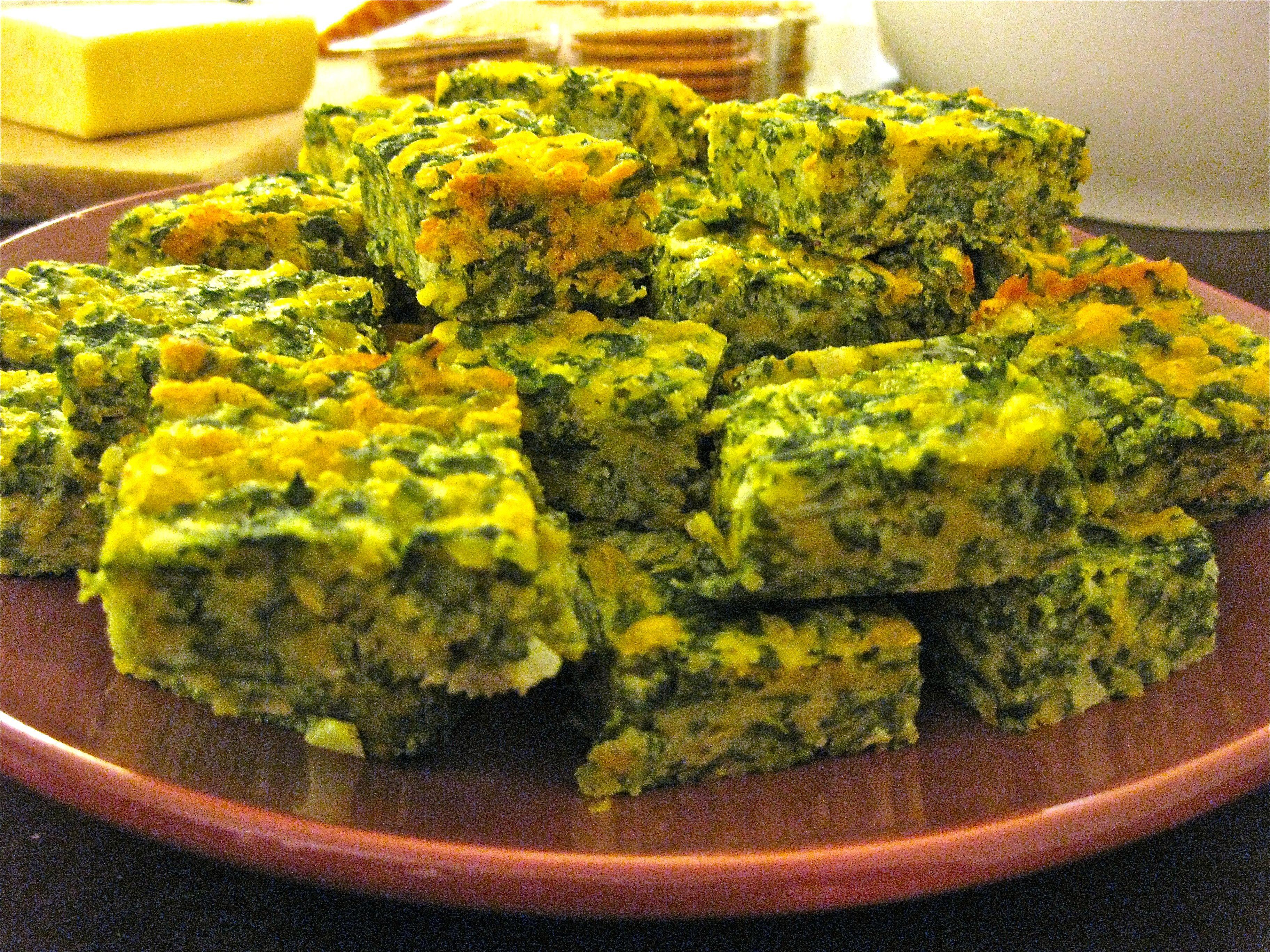 Spinach Quiche Bars | Big Apple Bites